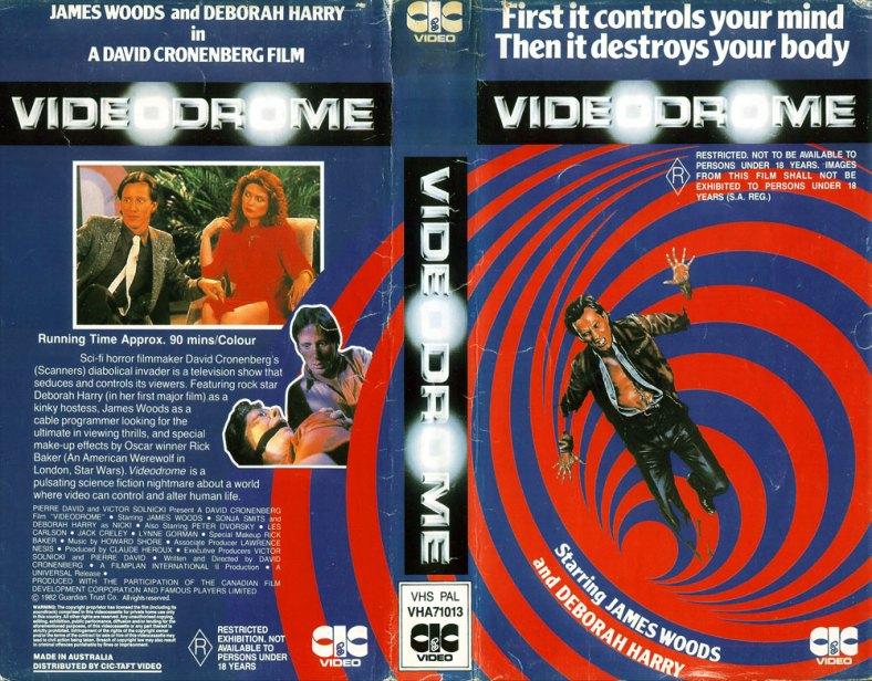 Videodrome VHS packaging