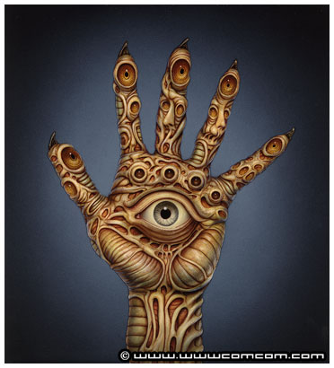 hand with eyes