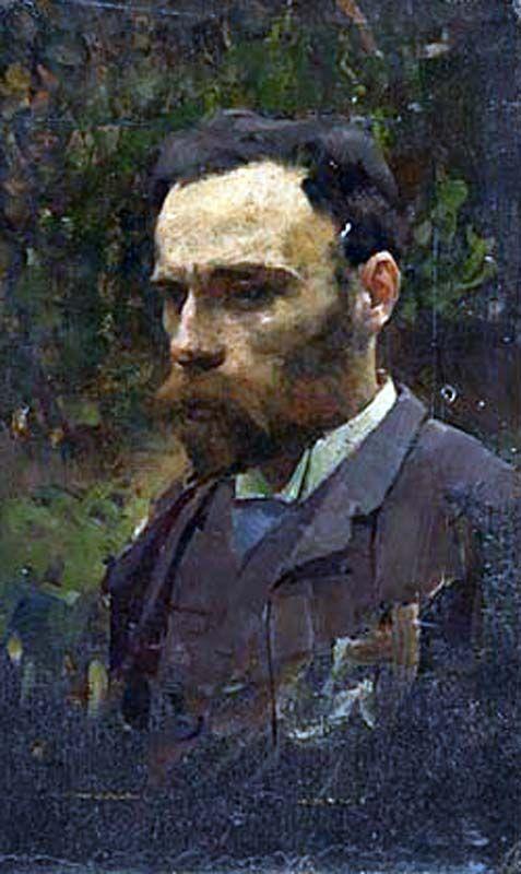 John William Waterhouse by William Logsdail- 1877