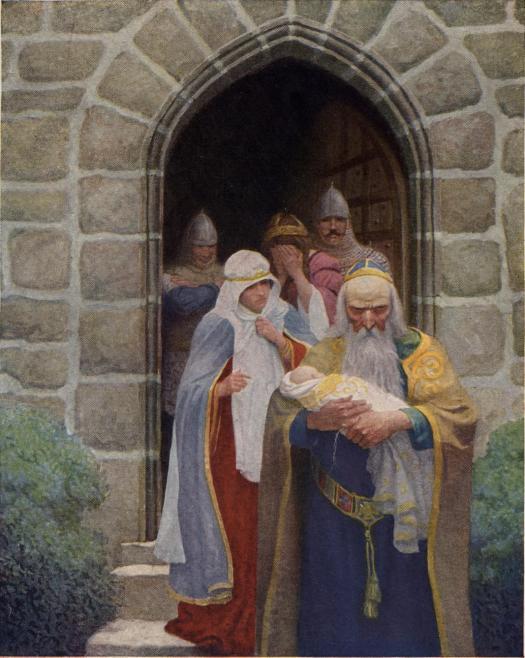 Merlin Taking Away The Infant Arthur 1922