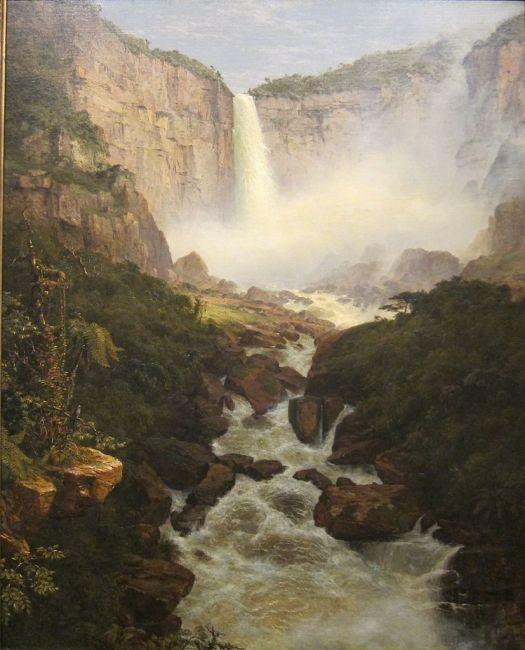 Tequendama Falls Near Bogota New Granada - 1854