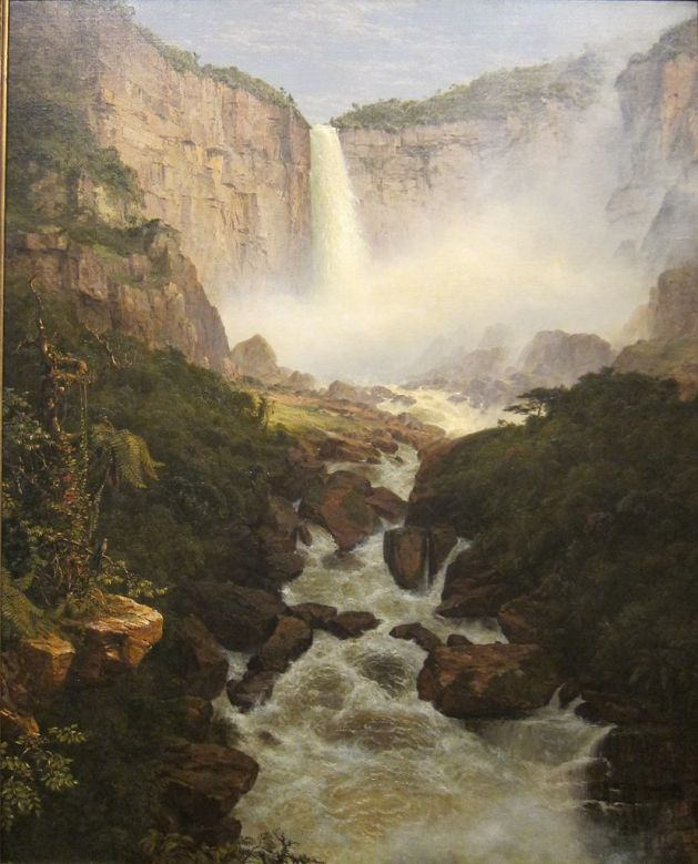 Tequendama Falls Near Bogota New Granada - 1854