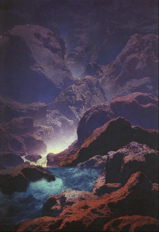 Maxfield Parrish Moonlight - 1932