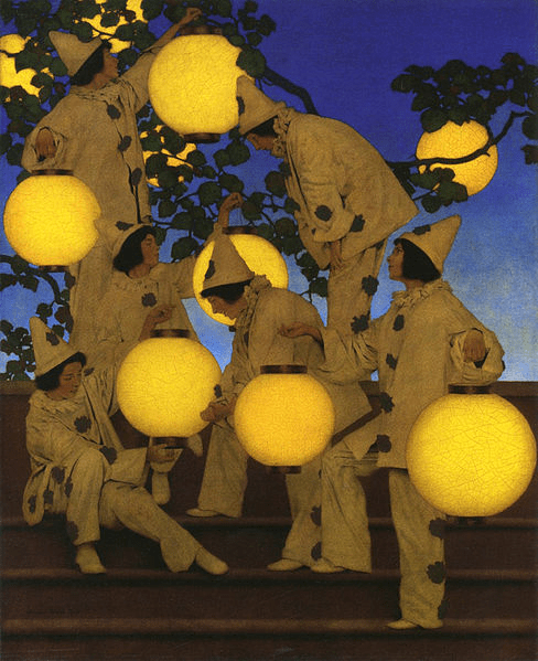 Maxfield Parrish - The Lantern Bearers - 1908