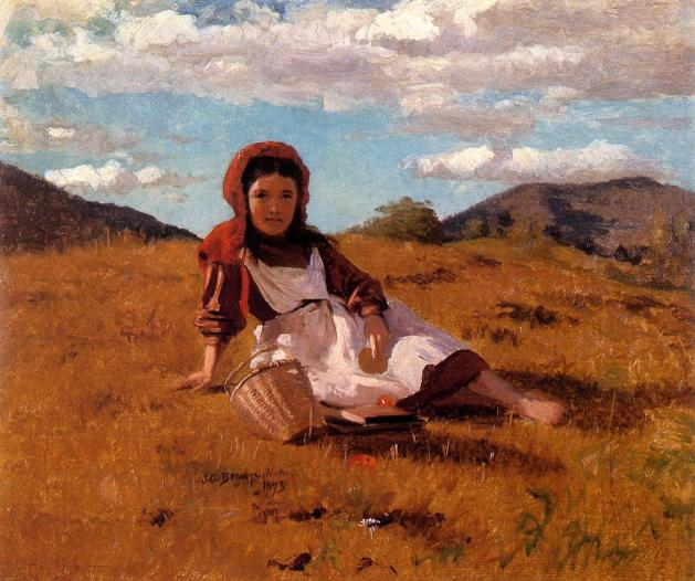 John George Brown - The Picnic Basket - 1873