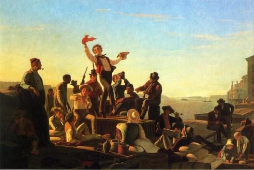 George Caleb Bingham - Jolly Flatboatmen
