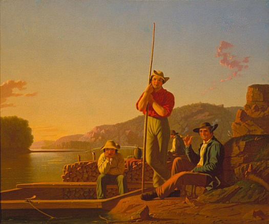 George Caleb Bingham - The Wood-Boat
