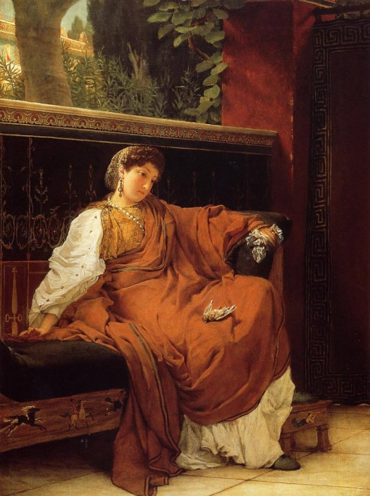 Lawrence Alma-Tadema - Lesbia Weeping over a Sparrow - 1866