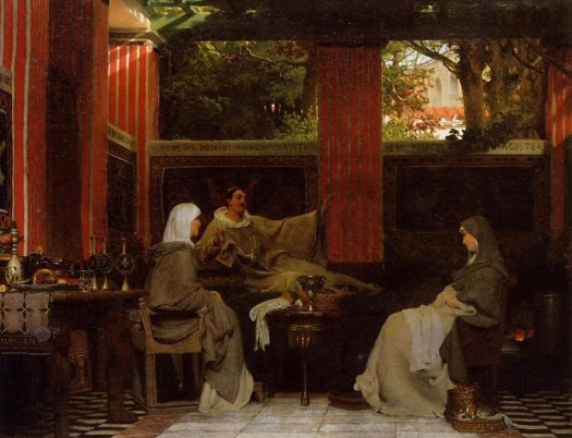 Lawrence Alma-Tadema - Venantius Fortunatus Reading His Poems to Radegonda VI - 1862