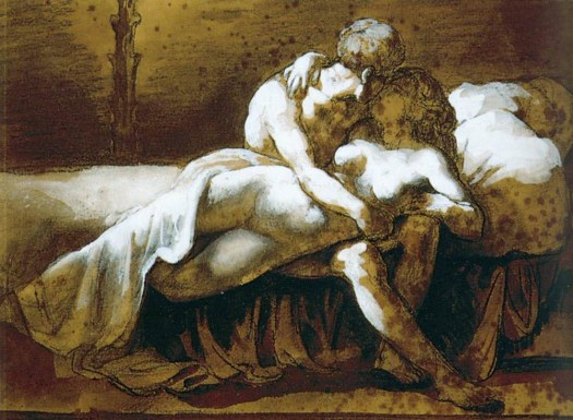 Theodore Gericault - The Kiss - 1822