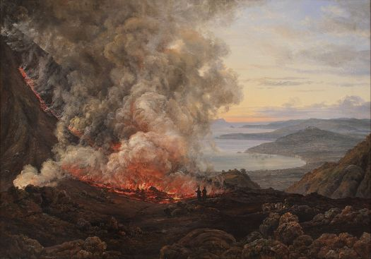Johan Christian Dahl - Eruption of the Volcano Vesuvius - 1826