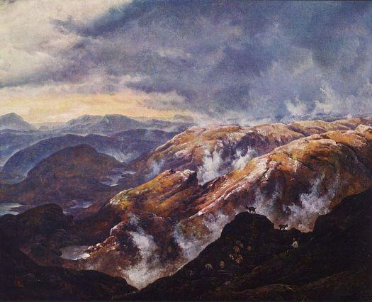 Johan Christian Dahl - Lyshornet near Bergen - 1836