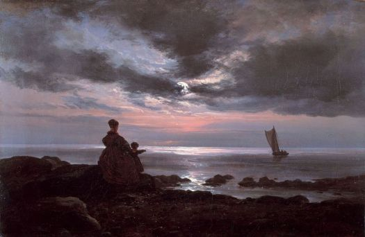 Johan Christian Dahl - Mother And Child By The Sea