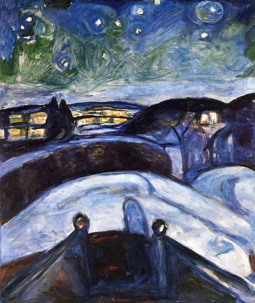 Edvard Munch - Starry Night - 1922-24
