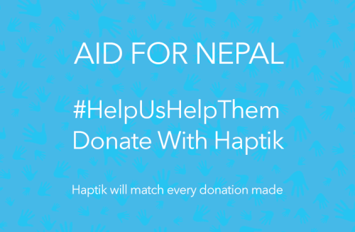 donate nepal via haptik