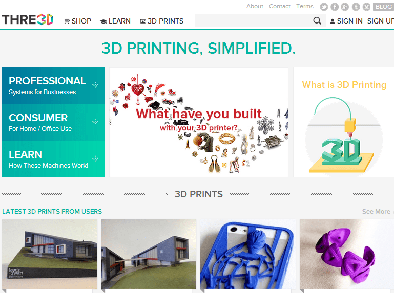 THRE3D, 3D Printing Product Directory, Aims to Make 3D Printing a