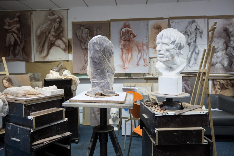 The sculpture and painting room at Virtuos' Shanghai studio. (Image credit: Virtuos)