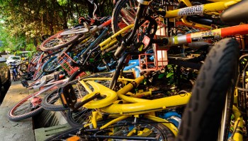 share bikes pile ofo mobike reduced