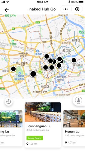Naked Hub Go location search
