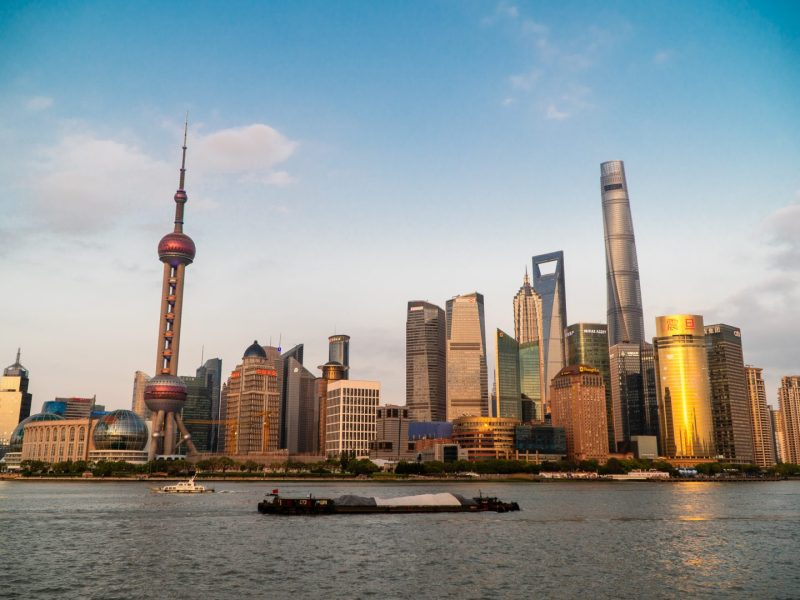 Shanghai's skyline is seen from The Bund on April 13, 2019. (Image Credit: TechNode/Eugene Tang)