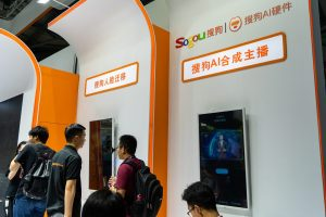 Sogou was present at CES Asia 2019, where it presented its AI hardware products in Shanghai, China on June 11, 2019. (Image credit: TechNode/Shi Jiayi)