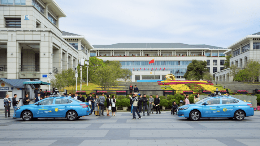 Local residents were lining up for having test rides offered by WeRide in the Guangzhou Science City on Thursday, November, 28, 2019. (Image credit: WeRide)