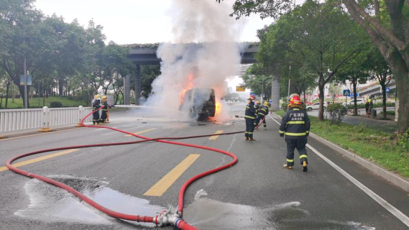 Image of article 'EV safety concerns ratchet up after fiery crash in Shenzhen'