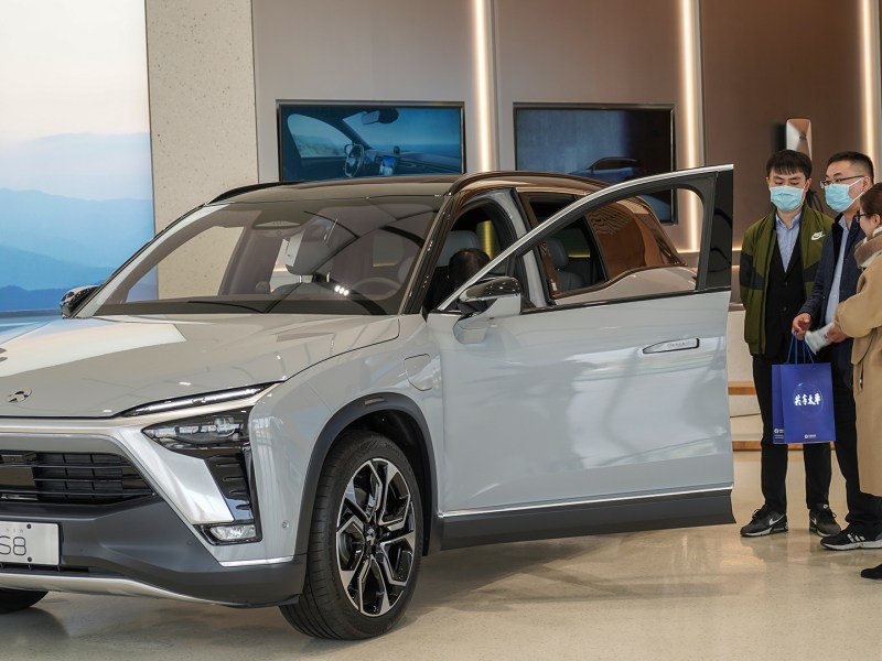 EV Nio electric vehicles Tesla Xpeng Hefei