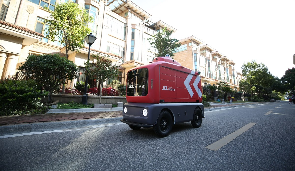 logistics unmanned delivery robot autonomous driving jd.com