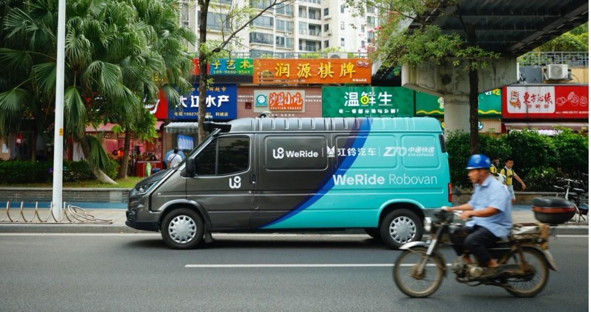 self-driving autonomous vehicles weride robovan driverless delivery