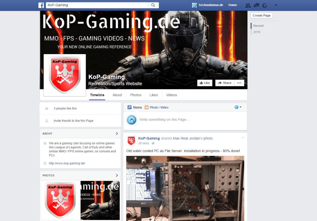 KoP Gaming facebook