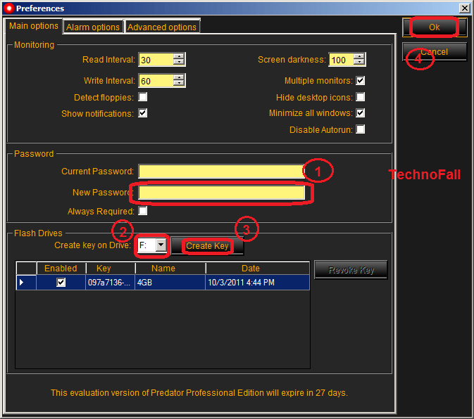 Lock computer using USB