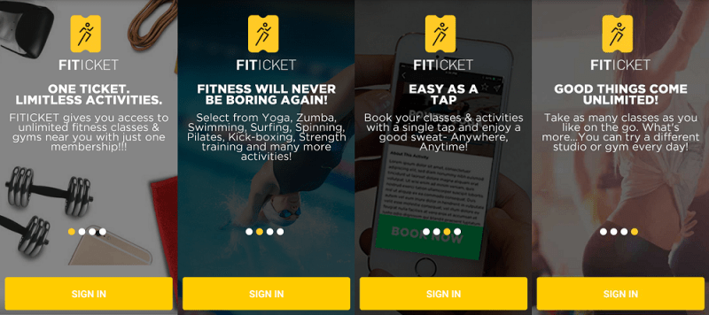 Fiticket app