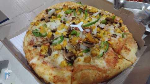 Pizza in indoor lighting