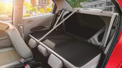 Foldable rear seats