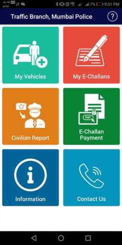 How to report traffic violation pay vehicle fines E-Challan