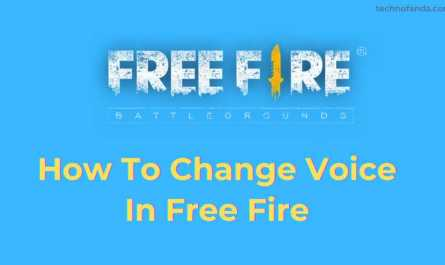 Voice Change In Free Fire