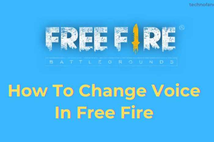 How To Change Voice In Free Fire Game हिन्दी में