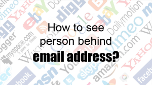 How to see person behind email address?