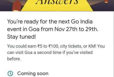 Goa Event Answers