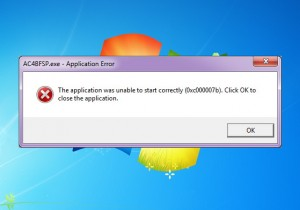 how to fix application was unable to start correctly 0xc00007b