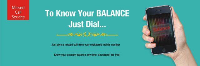 miss call balance service