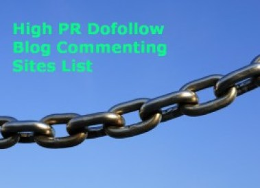 New dofollow blog commenting sites list with High PR