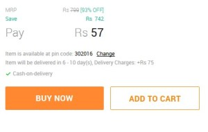 snapdeal cod