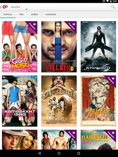free hindi moviw watchinging android app