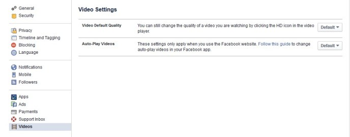 Stop facebook video autoplay