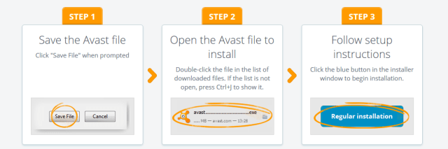avast download and install