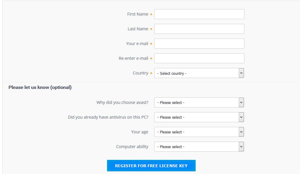 avast antivirus free download with registration key