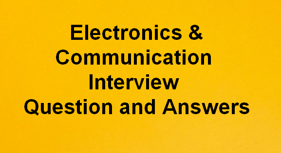 electronics and communication engineering question and answers