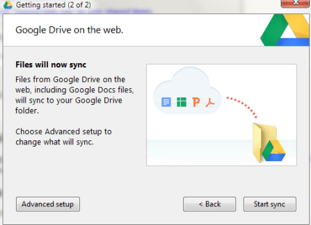 Change Google Drive Default Folder location